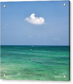 Single Cloud Over The Caribbean Acrylic Print
