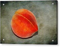 Acrylic Print featuring the photograph Single Peach 2 by Linda Segerson
