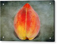 Acrylic Print featuring the photograph Single Peach by Linda Segerson