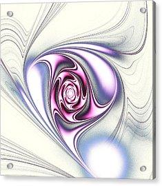Single Rose Acrylic Print by Anastasiya Malakhova