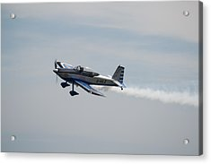 Acrylic Print featuring the photograph Single Rv8tor Sunderland Air Show 2014 by Scott Lyons