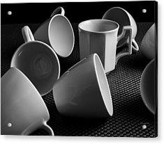 Acrylic Print featuring the photograph Singled Out - Coffee Cups by Steven Milner