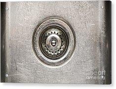 Sink Plug Acrylic Print by Tim Hester