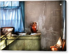 Sink - The Jug And The Window Acrylic Print by Mike Savad