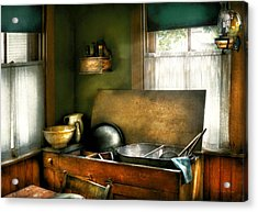 Sink - The Kitchen Sink Acrylic Print by Mike Savad