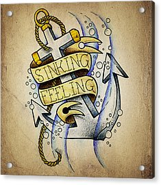 Sinking Feeling Acrylic Print by Samuel Whitton