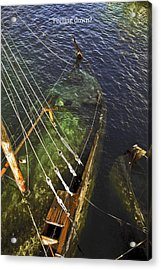 Sinking Sailboat Acrylic Print by Sally Weigand