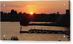 Acrylic Print featuring the photograph Sinking Sun by Elizabeth Sullivan