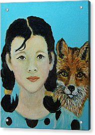 Sinopa Little Fox Acrylic Print by The Art With A Heart By Charlotte Phillips