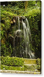 Sintra Waterfall Acrylic Print by Deborah Smolinske