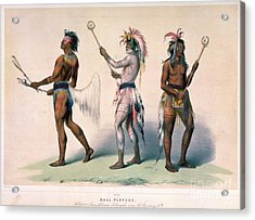 Sioux Lacrosse Players Acrylic Print by Granger