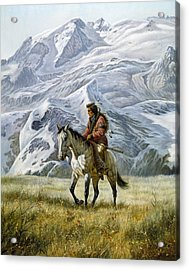 Sioux Scout Acrylic Print by Gregory Perillo
