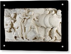 Siphnian Treasury Frieze Acrylic Print by Ashmolean Museum/oxford University Images