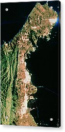 Sir-c Image Of San Francisco & Oakland Acrylic Print by Nasa/science Photo Library