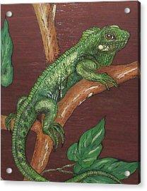 Sir Iguana Acrylic Print