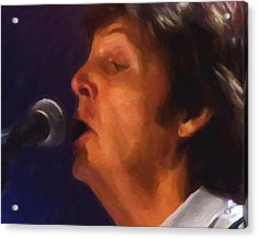 Sir Paul Acrylic Print by Michael Pickett