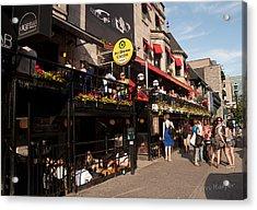 Sir Winston Churchill Pub On Rue De Crescent In Montreal Acrylic Print