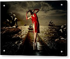Acrylic Print featuring the digital art Siren by Galen Valle