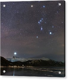 Sirius Rising With Orion Acrylic Print by Tommy Eliassen