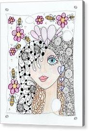 Sissy Acrylic Print by Paula Dickerhoff