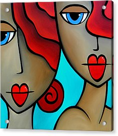 Sister Act By Thomas Fedro Acrylic Print