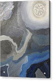 Sister Moon Acrylic Print by Sarah E Kohara