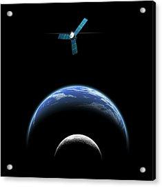 Sister Moon Satellite Acrylic Print