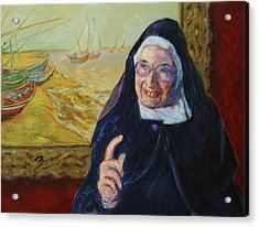 Sister Wendy Acrylic Print by Xueling Zou