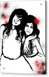 Sisterly Love Acrylic Print