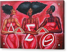 Sisterly Love Delta Sigma Theta Acrylic Print by The Art of DionJa'Y