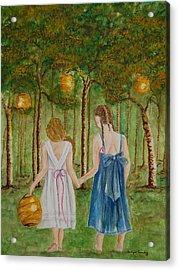 Sisters At Twilight Acrylic Print
