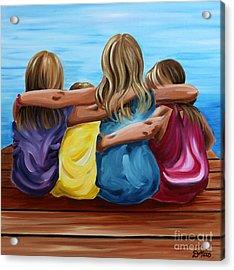 Sisters Acrylic Print by Debbie Hart