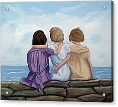 Sisters Acrylic Print by Fran Brooks