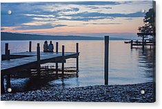 Sisters - Lakeside Living At Sunset Acrylic Print