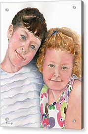 Sisters Acrylic Print by Marsha Elliott