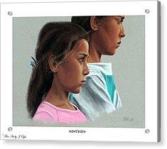 Sisters Print Version Acrylic Print by Joseph Ogle