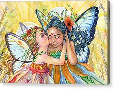 Sisters Acrylic Print by Sara Burrier