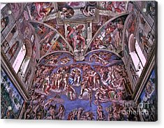 Acrylic Print featuring the photograph Sistine Chapel by Allen Beatty