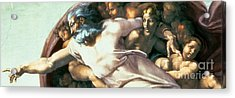 Sistine Chapel Ceiling Creation Of Adam Acrylic Print by Michelangelo Buonarroti