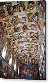 Sistine Chapel Ceiling. Acrylic Print