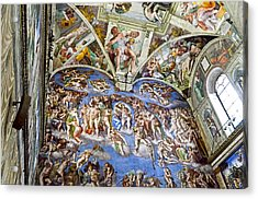 Sistine Chapel - Last Judgement Acrylic Print