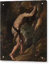 Acrylic Print featuring the painting Sisyphus by Titian