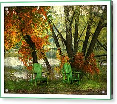 Sit A While Acrylic Print by Dianne  Lacourciere