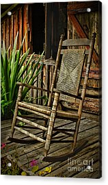 Sit Down And Stay A Spell Acrylic Print
