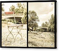 Sit Down... Black Acrylic Print by Hannes Cmarits