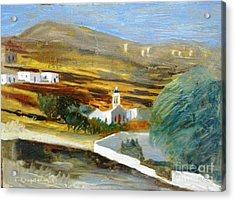 Site From Tinos Island Acrylic Print by George Siaba