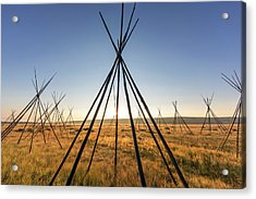 Site Of Chief Joseph Of The Nez Perce Acrylic Print by Chuck Haney