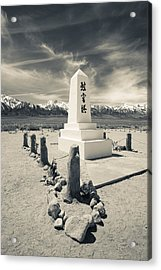 Site Of World War Two-era Internment Acrylic Print by Panoramic Images