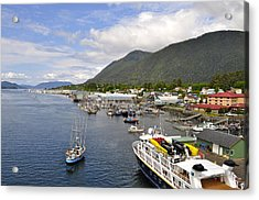 Sitka Channel Acrylic Print by Cathy Mahnke