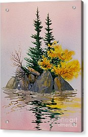 Acrylic Print featuring the painting Sitka Isle by Teresa Ascone
